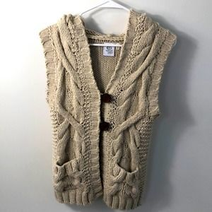 Rip curl Virginia acrylic sweater vest with hoodie